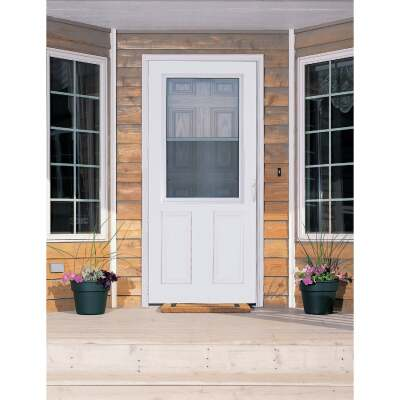 Larson Lifestyle MULTI-VENT 36 In. W x 80 In. H x 1 In. Thick White Mid View 2-Panel DuraTech Storm Door