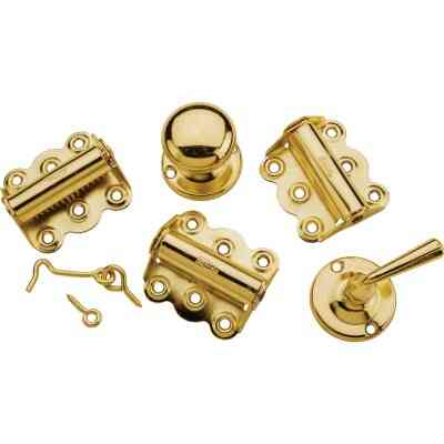 National Brass 3-Hinge Screen Door Kit