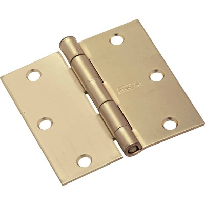 National 3-1/2 In. Square Satin Brass Door Hinge