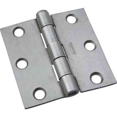 National 2-1/2 In. Square Plain Steel Broad Door Hinge