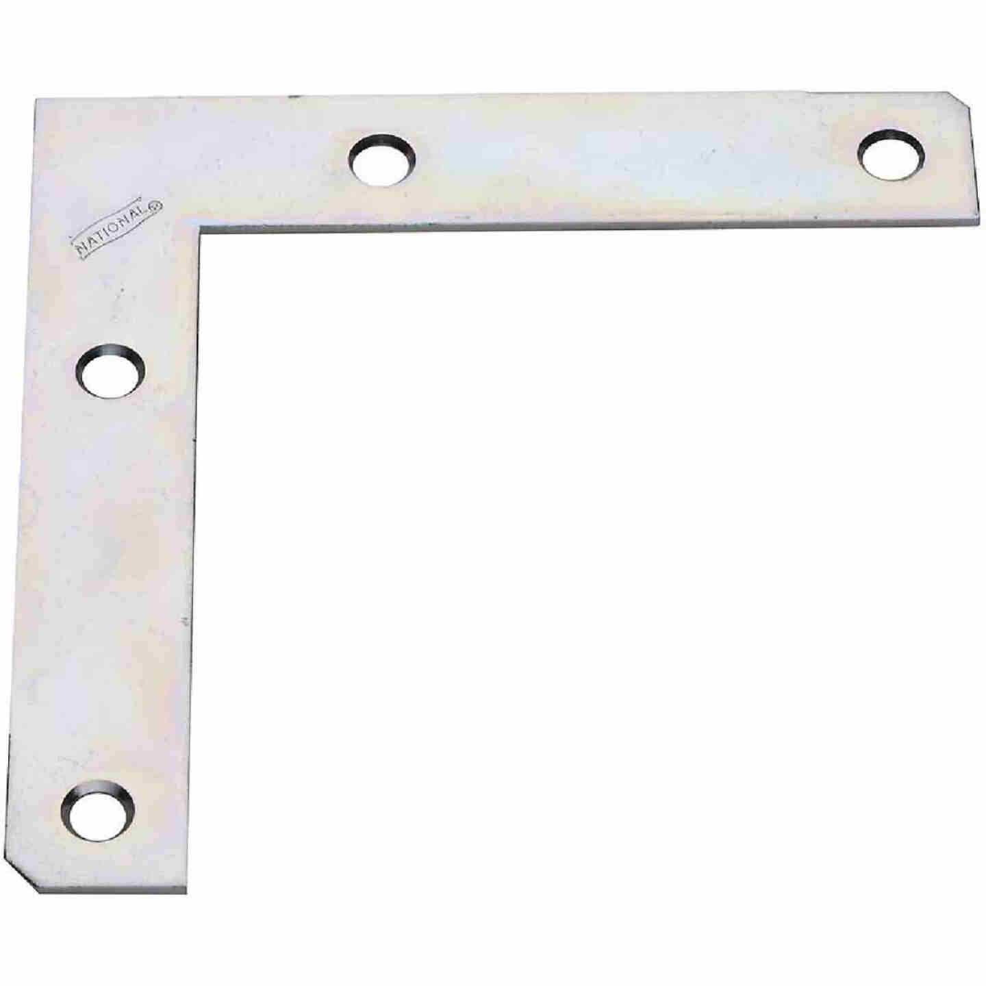 National Catalog 117 5 In. x 7/8 In. Zinc Flat Corner Iron Image 1