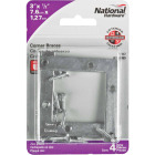 National Catalog 117 3 In. x 1/2 In. Zinc Flat Corner Iron (4-Count) Image 2
