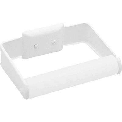 Decko White Wall Mount Toilet Paper Holder