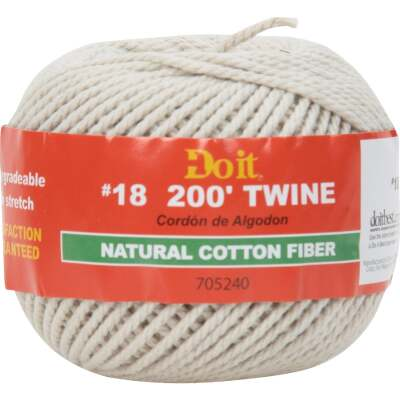 Do it #18 x 200 Ft. Natural Cotton Twine