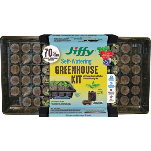 Jiffy 70-Cell Self-Watering Greenhouse Seed Starter Kit