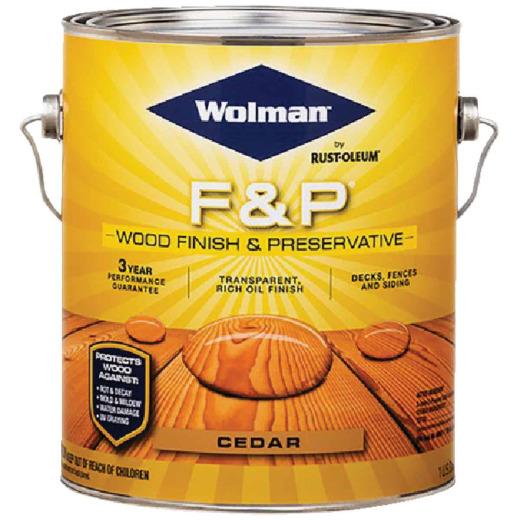 Wolman F&P Transparent Wood Finish And Preservative, Cedar, 1 Gal.