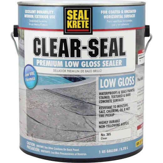 Seal Krete Clear-Seal Low VOC Acrylic Concrete Sealer, 1 Gal.