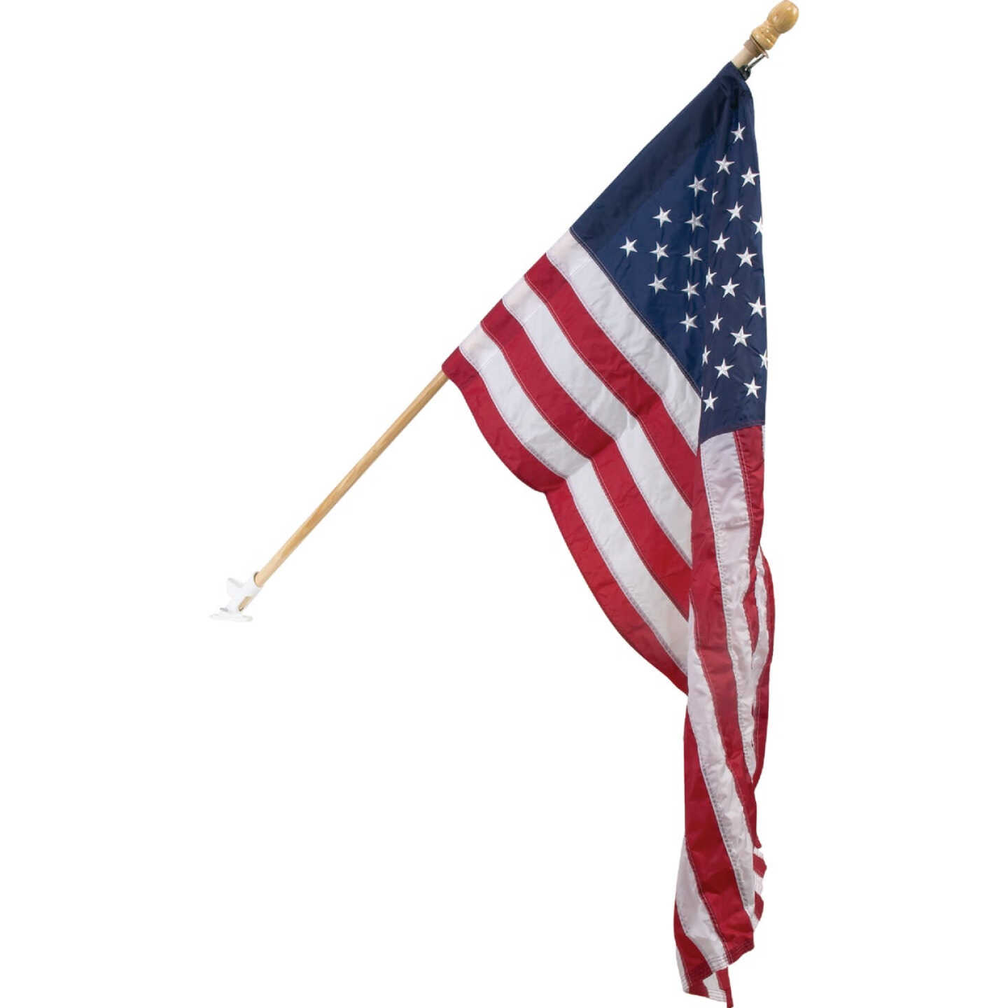 Valley Forge 2.5 Ft. x 4 Ft. Nylon American Flag & 5 Ft. Pole Display Kit Image 1